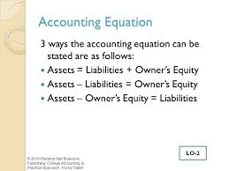 the accounting equation can be stated as jennarocca the basic accounting equation cannot be restated