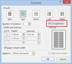 You can use tabs to quickly create empty lines in forms with microsoft word. Color The Column Dividing Line In Word Office Watch
