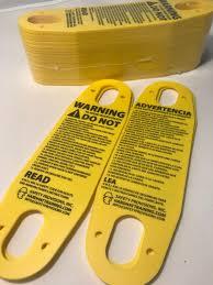 pendant warning tags overhead crane hoists