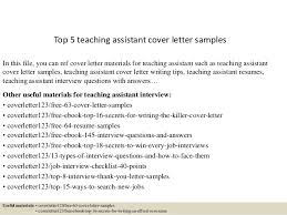 Ideas Of Cover Letter For Teacher Assistant Sample In Top 5 Teaching