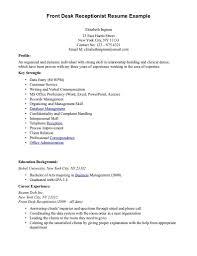 Importance Of A Resume Receptionist Job Description Resume Sample