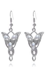 silver plated lord of the rings arwen s evenstar pendant necklace earring