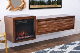 Floating Tv Stand Wall Mount Fireplace Floating Tv Stand Eco Geo Mocha Woodwaves