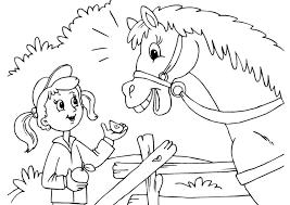 Disegno Da Colorare Ragazza E Cavallocavalli Cavallo Ragazze