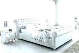 white leather queen bed outstanding ireland queen faux leather bed white