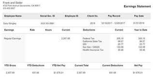 Payroll Check Stub Template Free Modern Stub Sample Templates Paystubcreator Net