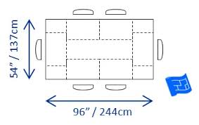 rectangular dining table size for 6. ideal dining table size for 6 rectangular a