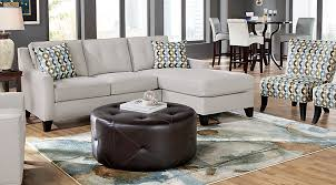 contemporary living room sets. cindy crawford home madison place platinum 2 pc sectional contemporary living room sets