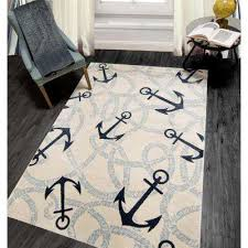 home dynamix bazaar coastal blue anchors 8 ft x 10 ft indoor area rug
