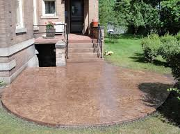 Cool Decorative Concrete Patio Pictures B28d In Wonderful Home
