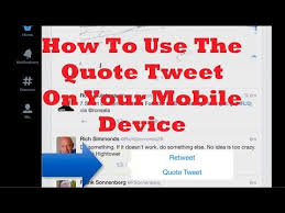 How To Quote A Quote Inspiration How To Use The Quote Tweet On Twitter YouTube