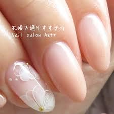 上品カラグラとお花のアート Nail Salon Azt