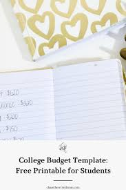Printable Budgeting Sheets College Budget Template Free Printable For Students