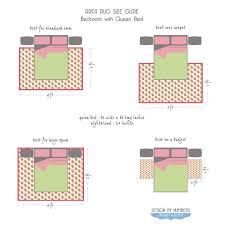 area rug size guide queen bed bedroom