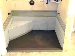 tiled shower pan installation how to build a tile shower base cost to install tile shower