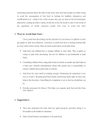 junk food essay okl mindsprout co junk food essay