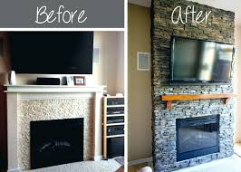 updated brick fireplace how to whitewash stone fireplace makeover cost update a brick on fireplace remodel