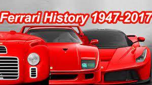 História Ferrari 1947 2017 Ferrari History Toy Car
