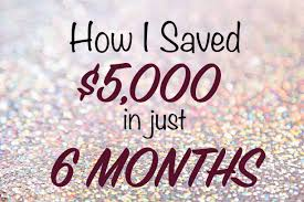 How I Saved 5 000 In Just 6 Months Sugar And Savings