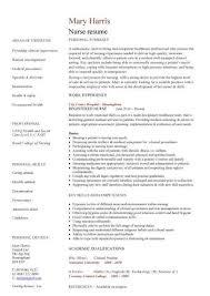 Resume Templates For Nurses Awesome New Nurse Resume Template Togatherus