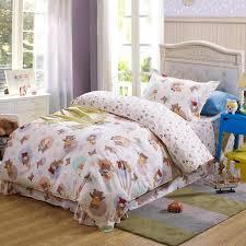 100 cotton comforter sets queen kids cute cartoon 100 cotton bedding set with rabbit bear reactive 100 cotton comforter