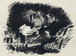 the was a reaction paper for the poem the raven i submitted this  illustration by edouard manet for a french translation by stephane mallarme of edgar allen poe s