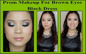 makeup black dress brown eyes photo 1
