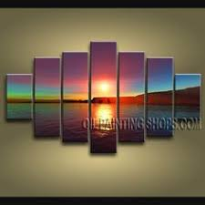 sunset wall art canvas