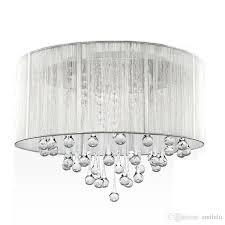 best ing modern luxurious brushed crystal chandelier silver black ac110v 260v dia 40cm designer pendants pendant lighting shades from smilelu