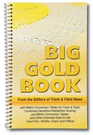 Track And Field Conversion Chart Big Gold Book Gill Athletics