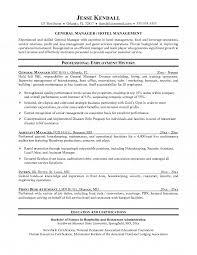 Banquet Manager Resume Inspiration Resume Format For Hotel Management Hcsclubtk