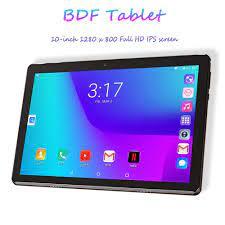 BDF 10 Inch Máy Tính Bảng 3G Nghe Gọi Điện Thoại Thẻ SIM Kép Android 7.0  Tab 2GB RAM 32GB ROM WiFi IPS Trẻ Em Google Thị Trường Phablets OTG