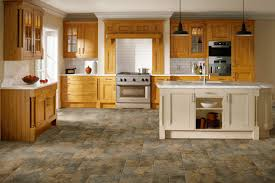 Cobblestone Kitchen Floor Luxury Vinyl Tile Flooring