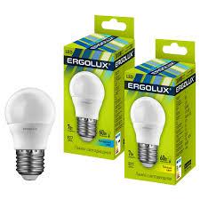 Продаем <b>Лампа светодиодная Ergolux LED</b>-G45-7W-E27-4K Шар ...