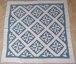 241 best Blue and White Quilt Love <3 images on Pinterest ... & Marie Miller Antique Quilts ~ Martha Washington Star Adamdwight.com