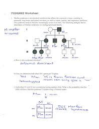 Autosomal Pedigree Worksheet Worksheet Fun And Printable