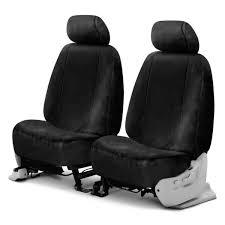 superlamb luxury fleece double cap 1st row black seat covers