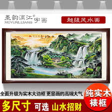 feng shui paintings for office. cornucopia sunrise framed painting feng shui paintings landscape backer office living room waterfall picture for h