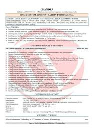 Sample Resume For Experienced Linux System Administrator Save Linux