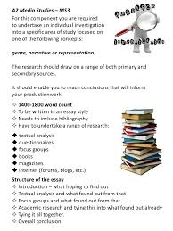 a guide to the research investigation a2 media studies ms4<br > 2