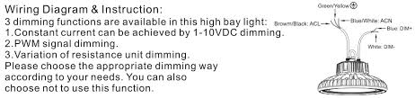 philips lumileds warehouse lighting led high bay light w wiring diagram instruction dimmable ufo led high bay light
