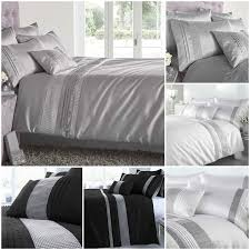 kimberley diamante duvet cover and matching pillowcase sets