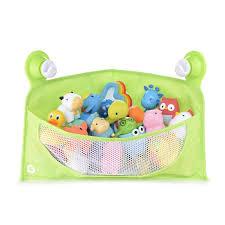 corner toy basket green