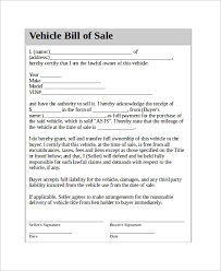 Car For Sale As Is Printable Vehicle Bill Of Sale Sold As Is Download Them Or Print