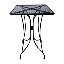 square mesh wrought iron bar height