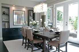 formal dining room chandelier height for