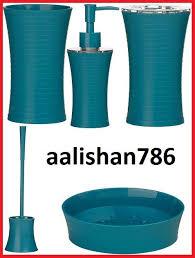 aqua coloured bathroom accessories. turquoise bathroom accessories | home, furniture \u0026 diy \u003e bath accessory sets aqua coloured s