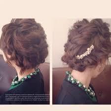 自分でヘアアレンジボブからミディアム結婚式の髪型 結婚式髪型