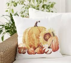 Pumpkin Sunflower Indoor/Outdoor Pillow