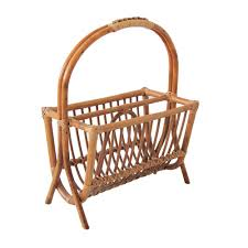 Rattan Magazine Holder At 100st Sight New Products Vintage Bamboo and Rattan Magazine Rack 1